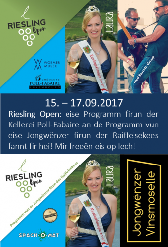 Highlight Pic Riesling Open 2017